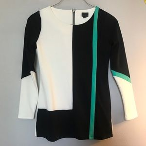 Black, White, and Turquoise Dress